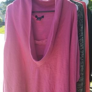 Pink Cow Neck Sweater